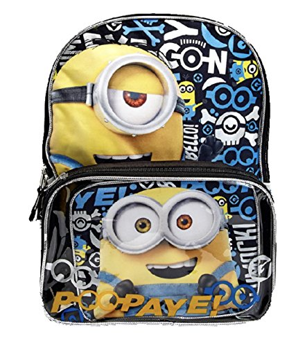Despicable Me Backpack & Lunch Bag Clear Pocket -
