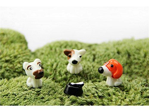Linda Miniatura Animales Lindos Perro Micro Paisaje Decoración Adornos Artesanía de Jardín Decoración de DIY (Marrón): Amazon.es: Hogar
