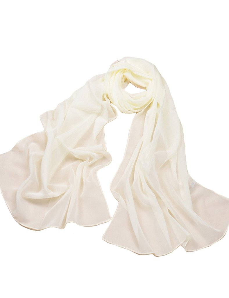Letuwj Womens Gradient Scarf Solid Color Cappa thin Light Blue Onesize LTUWWJ0038-4
