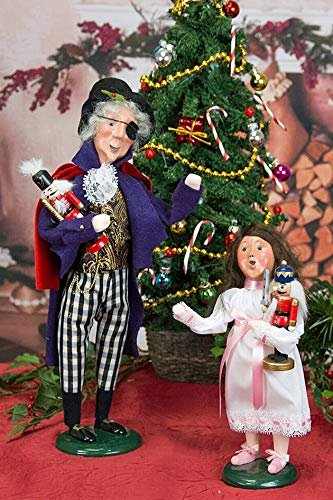 Holiday Figurines - Byers Choice Nutcracker Ballet Collection - Clara & HERR DROSSELMEYER - 2 Piece Set