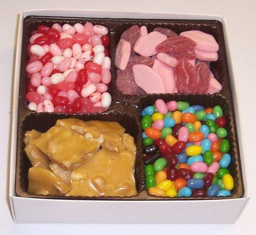 Scott's Cakes Large 4-Pack Smoochie Lips, Valentine Beans, Conversation Beans, & Peanut Brittle