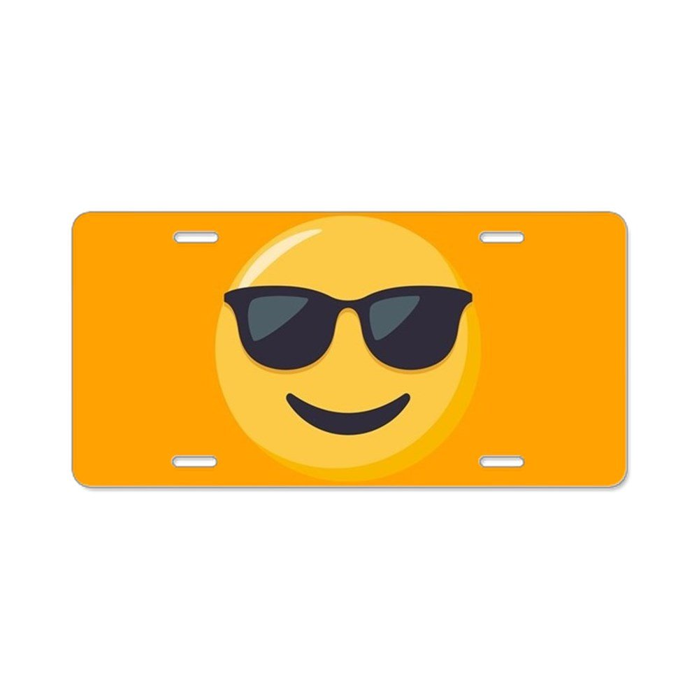 CafePress - Gafas de sol Emoji - Placa de Licencia, frontal ...