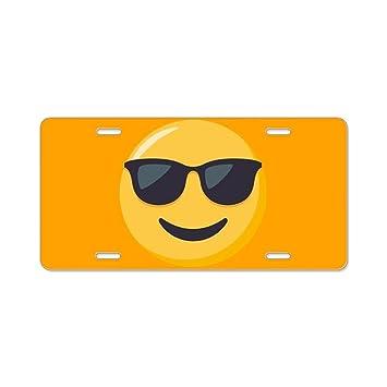 CafePress – Gafas de sol Emoji – Placa de Licencia, frontal de aluminio placa de