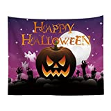 HUAIDE Halloween Decorations Tapestry Haunted House Pumpkins