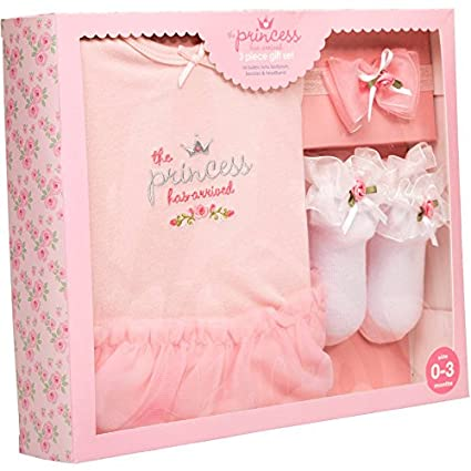 Amazon.com : Stepping Stones by C.R. Gibson. The Little Princess has arrived 3-Piece Gift Set WLM : Baby