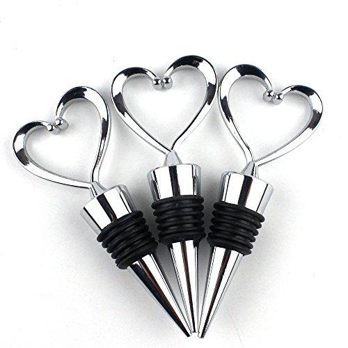 Lovelyou Stainless Steel Love Design Heart Shape Wine and Beverage Bottle Stoppers (Corkscrew Stopper)
