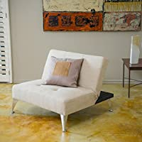 Home Alston Click-Clack Oversized Convertible Ottoman Chair Beige