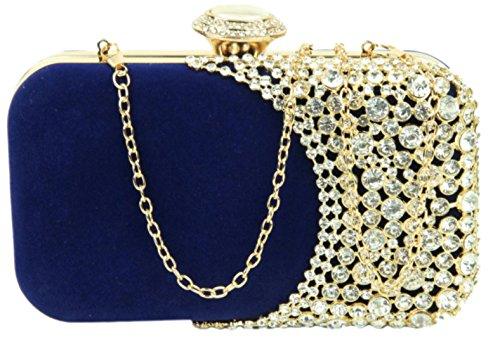 Clutch Girly Evening Bag Diamante Blue HandBags HandBags Girly xwtX1x8
