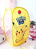 CJB Cute Pikachu Foldable Pop Up Hamper Laundry Bag Yellow