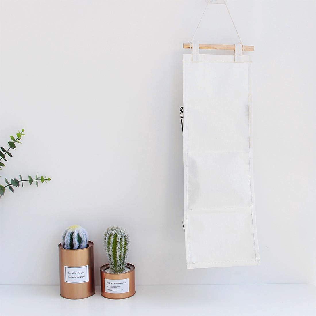 bolsa de almacenamiento Dise/ño de flamencos sal/ón beige Flecha sistema de ordenaci/ón para colgar bolsos para habitaci/ón de los ni/ños