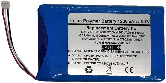 Nuvi 610T Nuvi 660 FM Nuvi 610 361-00019-02 3.7V//1200mAh Replace GPS Navigator Battery for Garmin Nuvi 600 D25292-0000 Nuvi 650 Nuvi 660 Nuvi 680,CS-IQN600SL Nuvi 670