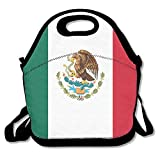 WANING MOON Lunch Box Mexican Flag Lunch Bag Insulation Picnic Bag With Adjustable Strap Zipper