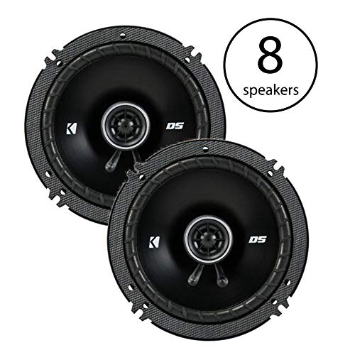 "KICKER 6.5"" 240 Watt 2-Way 4-Ohm Car Audio Coaxial Speakers"