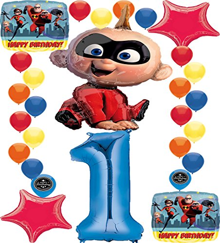 The Incredibles 2 Jack Jack Party Supplies Birthday Balloon Decoration Bundle 1st -