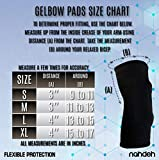nahdeh Gelbow Pads - 100% Silicone Gel Elbow Pads - 2 Styles - Regular and Thick - Extreme Protection