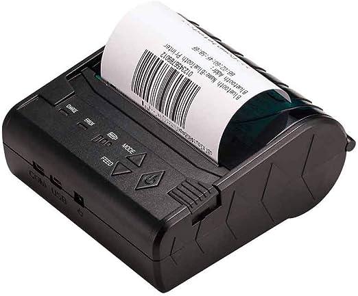YSZDM Impresora de Etiquetas, Impresora Portátil de Recibo Térmico ...
