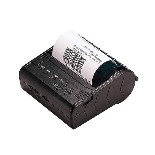 YSZDM Impresora de Etiquetas, Impresora Portátil de Recibo ...