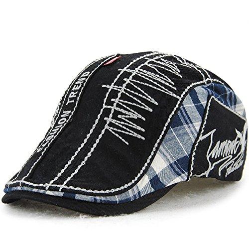 sombreros sombreros Las algodón Black de sombreros hombre Halloween tapas beanie negro mujer plaid Navidad MASTER 7qzUZz