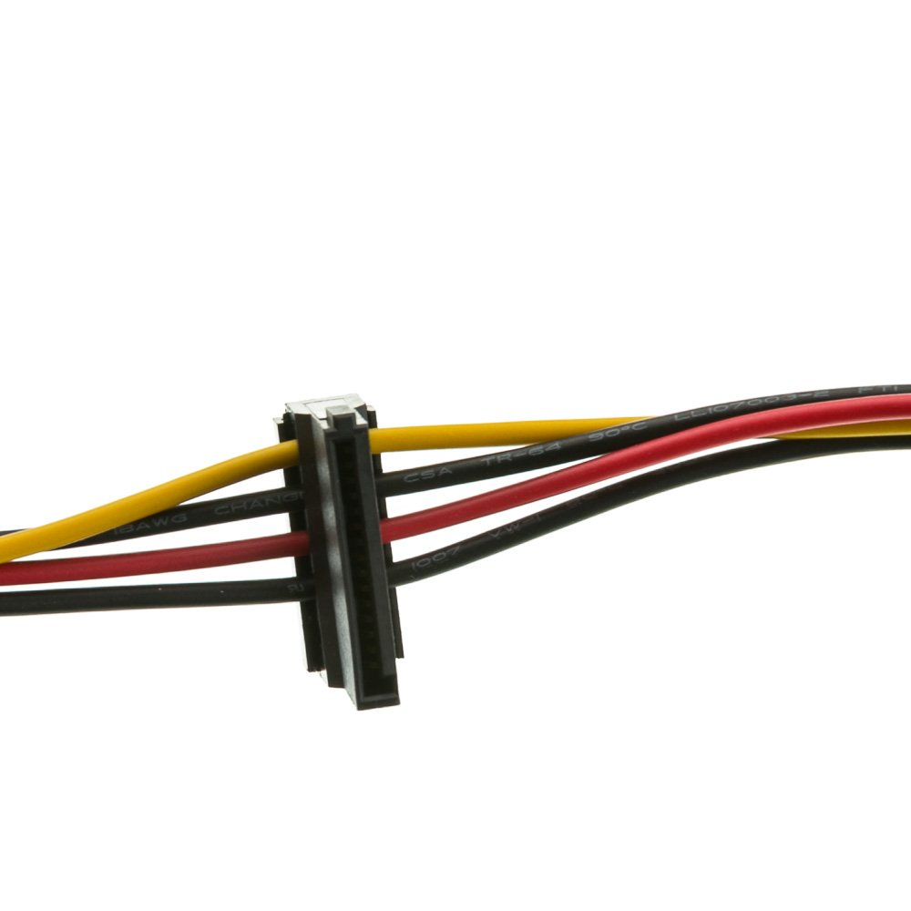ACL 14 Inch Serial ATA Male to Dual Serial ATA Female, 15 Pin SATA Power Y Cable, 4 Pack by ACL (Image #3)