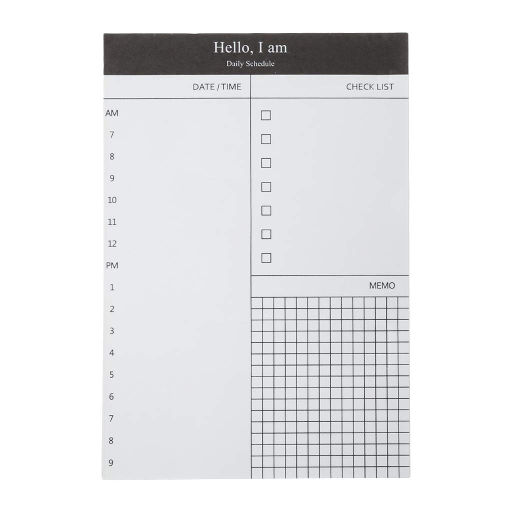 zrshygs Schedule Notepad Sticky Notes 50 Sheers DIY Planner ...