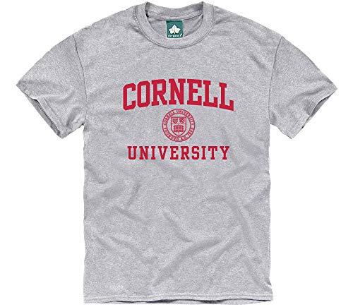 Ivysport Cornell University Short-Sleeve T-Shirt Crest, Grey, Large (Cornell Vintage Apparel)