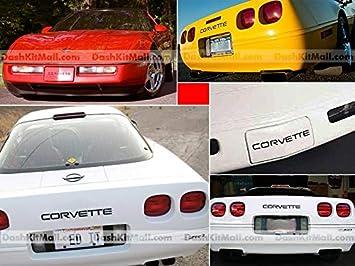 Front /& Rear Bumper Plastic Letters Inserts Set fits 1991-1996 Corvette C4 Models BDTrims Matte Black
