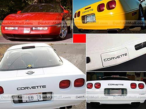 Matte Black Front /& Rear Bumper Letters fit Corvette C4 1991-1996 Plastic Inserts Not Decals SF Sales USA