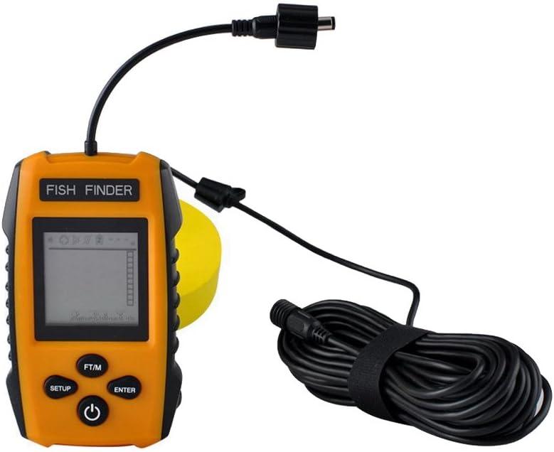 szjsl nuevo portátil Detector de buscador de peces, bajo el agua peces, Fishfinder peces de Tackle con Wired Sensor Sonar transductor y LCD Dispaly profundidad Finders para pesca: Amazon.es: Electrónica
