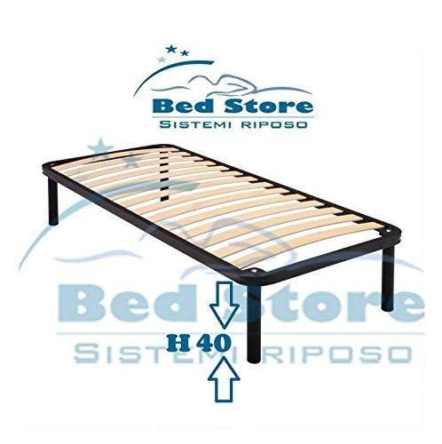 RETE A DOGHE STRETTE PER LETTO 80X185 ORTOPEDICA RESISTENTE + CON 4 PIEDI H40 BED STORE
