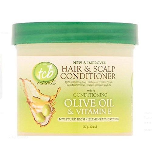 TCB Naturals Hair & Scalp Conditioner 10 oz. Jar (Case of - Oil Tcb Olive Naturals
