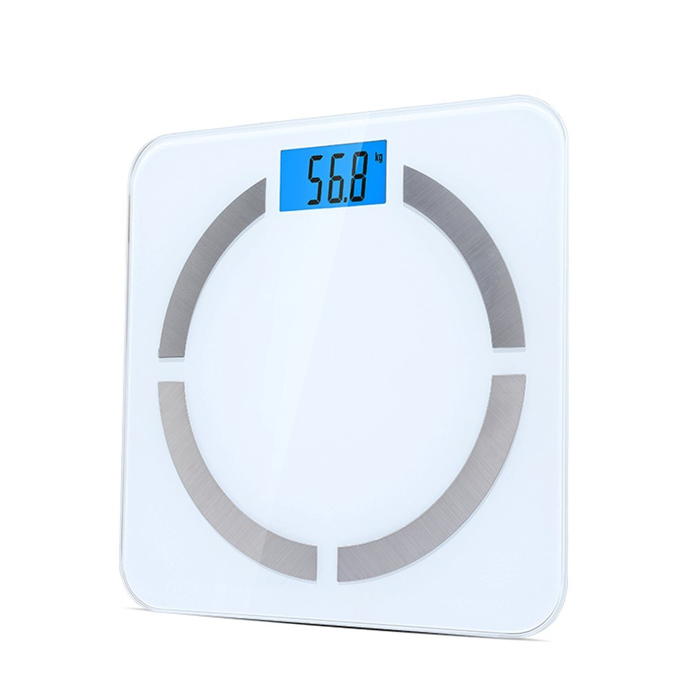 DDSS Weighing Scale Intelligent Body Fat Scale Electronic Fat Scale Household Bluetooth Human Scale Health Scale Bathroom Scale High Precision Weighing 180kg Standby for 300 Days Scales @