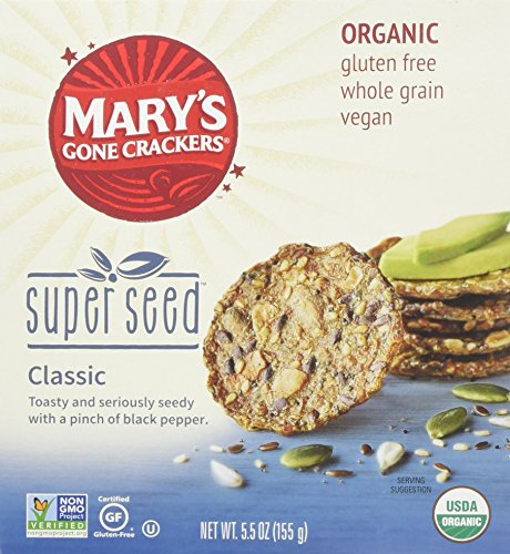 Mary's Gone Crackers Organic Super Seed, 5.5 oz (Pack of 3) Gluten - Gone Crackers