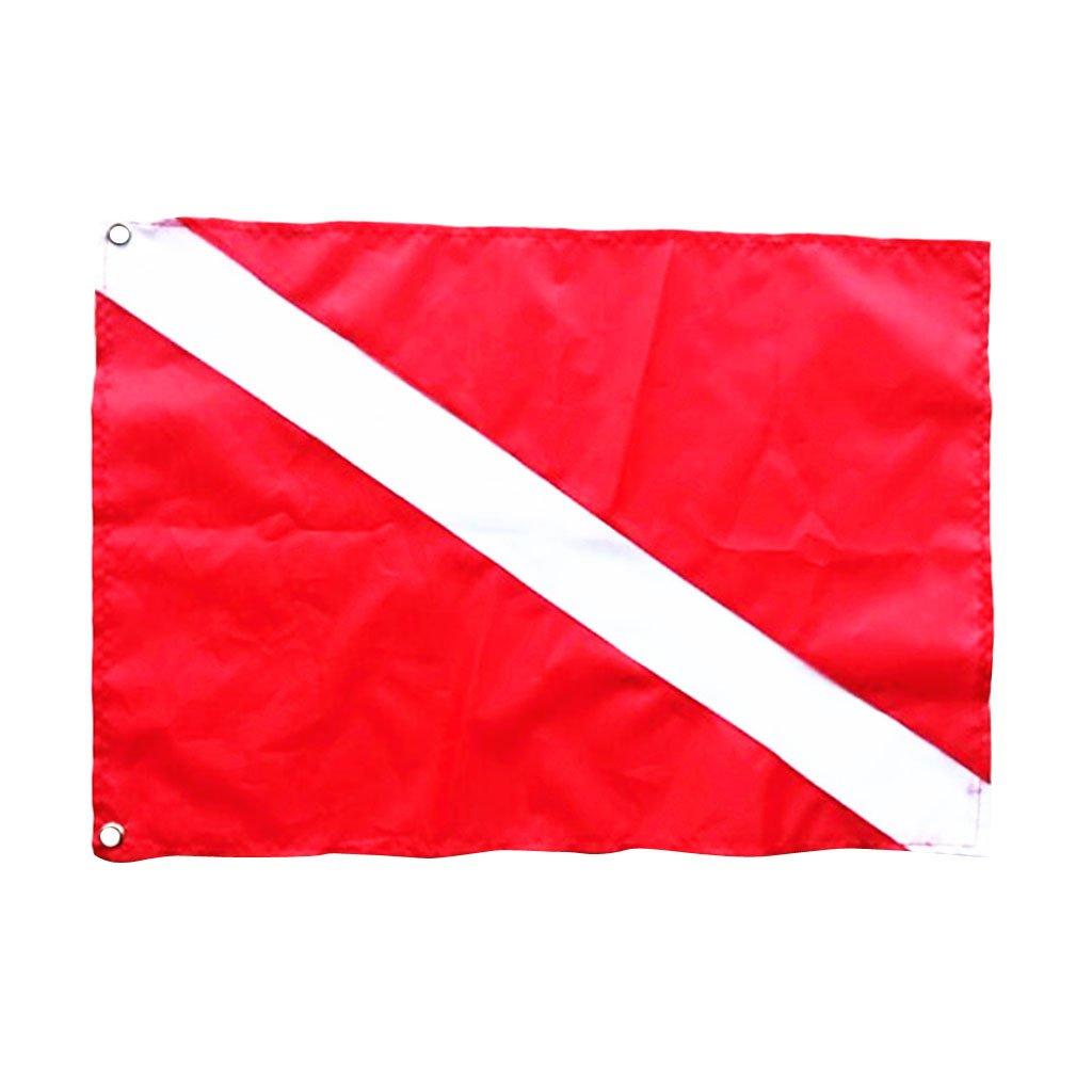 Sharplace Scuba Dive Diver Down Flag Safety Signal Marker Banner Kayak Marine Boat Flag 50 x 35 cm