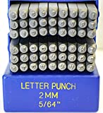 2mm Kristen Font Alphabet Punch Letter Set, 27 Pieces Including ''&'', Available in Uppercase, Lowercase or a Combination Set (Combination SGE11UL)