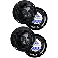 4) PYLE PLMR60B 6.5 300W Marine/Boat Dual Cone Waterproof Speakers TWO PAIR