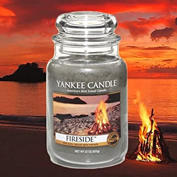 Amazon.com: Yankee Candle FIRESIDE Large 22-ounce Housewarmer Jar ...