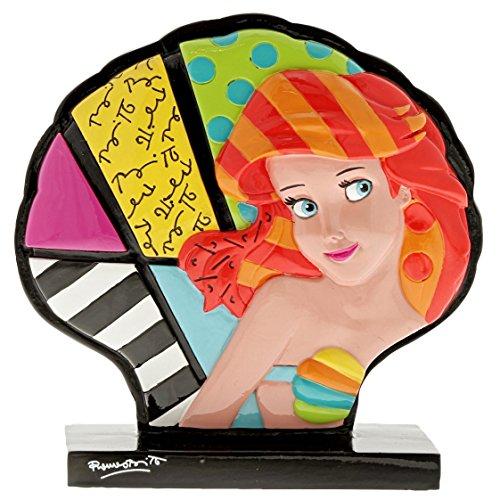 "Enesco Disney by Britto The Little Mermaid"" Ariel Shell Stone Resin Figurine, 5"", Multicolor"