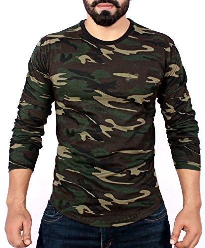 a320841ef7c5 Add-gear Unisex Polyester Dri-Fit Camo Full Sleeves T-Shirt  Amazon ...