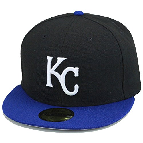 New Era 59fifty Kansas City Royals Authentic Baseball Hat Cap 2002-2005 Black/Royal/White Logo MLB