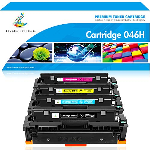True Image Compatible Toner Cartridge Replacement for 046H Canon Cartridge 046H CRG 046H Canon Color ImageCLASS MF733Cdw Canon ImageCLASS MF731Cdw ImageCLASS MF735Cdw LBP654Cdw Laser Printer -4Packs
