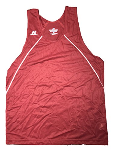 (Russell Athletic DRI-Power Tank Top Mens (Large, Cardinal/White))