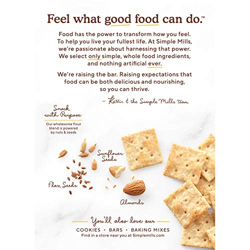 Simple Mills Almond Flour Crackers, Fine Ground Sea Salt, Gluten Free, Flax Seed, Sunflower Seeds, Corn Free, Good for Snacks, Made with whole foods, 6 Count (Packaging May Vary) 8