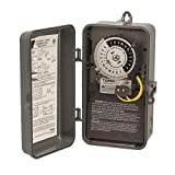 1100 Series Same On/Off Times Each Day Swimming Pool Control Time Fireman Switch, Noryl Indoor/Outdoor NEMA 3R Enclosure, 208-277 VAC Input Supply, DPST Output Contact