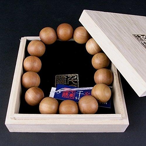 千糸繍院 真正印度(インド) 白檀(ビャクダン/サンダルウッド) ブレスレット/腕輪念珠数珠 18mm丸珠 4サイズ (M/12珠) B00TZZA4DO M/12珠 M/12珠
