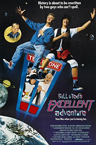 Bill & Ted's Excellent Adventure (1989) Movie Poster 24x36 inches ()