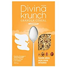 Divina Krunch Granola Flaxseeds, Walnuts, Pecans, Sesame and Hazelnuts 400g