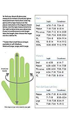 Bionic GGNBMRL Men's StableGrip with Natural Fit Black Golf Glove, Right Hand, Large