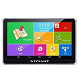 AZGIANT 7 inches Truck Nuvi GPS Navigation System GPS DVR SAT Nav Tablet Touch Screen Android Operating System Free Lifetime North America Canada Maps and Traffic