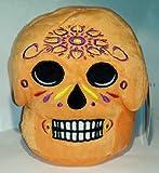 """Light Orange Skull Day of the Dead Día De Los Muertos 7"""" Plush"""