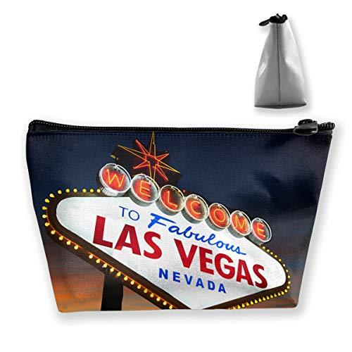Fashion Welcome to The Las Vegas Sign Cosmetic Bag Makeup Storage Bag Toiletry Organizer Pencil Case Handbag